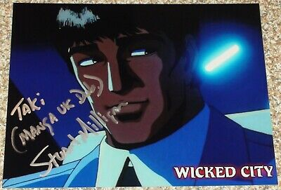 "Autographed WICKED CITY Photo Signed By Voice Actor STUART MILLIGAN ""TAKI"""