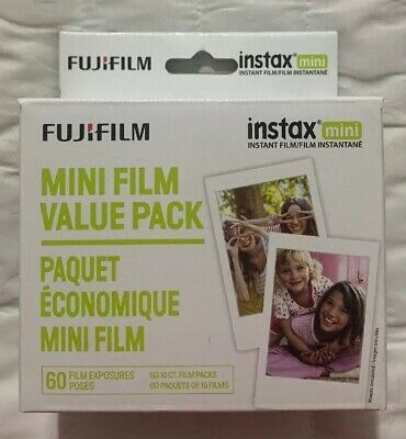 Fujifilm Instax Mini White Instant Film, 60 Exposures Pack 650004833 / 600016111