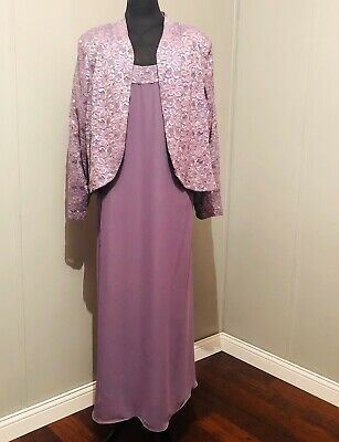 R&M Richards Jacket Dress Size 24W Purple In Color Nwt