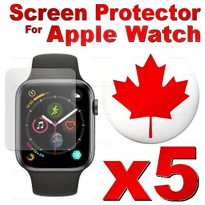 5 PACK - Tempered Glass Screen Protector For Apple Watch 44mm, 42mm, 40mm, 38mm