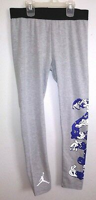 Nike Jordan Jumpman Girls Size L 12-13 Years Gray Heroes & Villans 23 Leggings