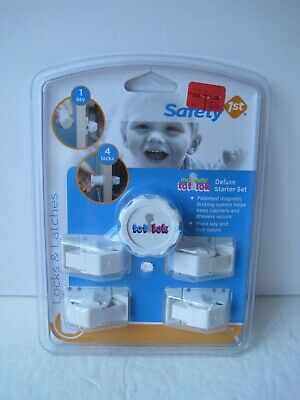 Safety 1st Magnetic Tot Lok Starter Set Two Locks One Key Baby Child Door Drawer
