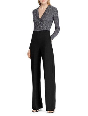 Lauren Ralph Lauren Two-Tone Straight-Leg Jumpsuit $165 Size 16 # 9NA 583 NEW