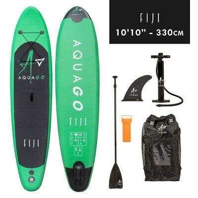 "STAND UP PADDLE BOARD 10'10"" AQUAGO FIJI INFLATABLE WITH PUMP & ACCESSORIES Wido"