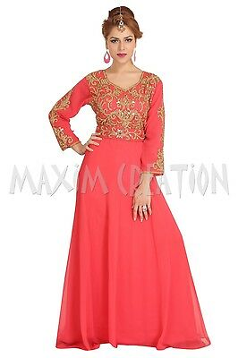Moroccan Jellebiya Algerian Caftan Sequins Embroidery Cocktail Party Gown  6315
