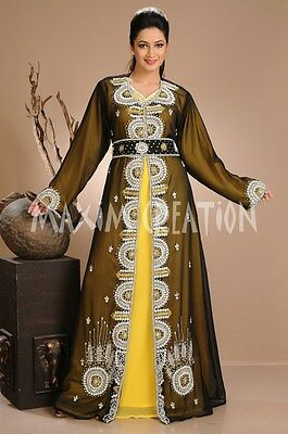 African Kaftan Hand Embroidery Customized Wedding Gown By Maxim Creation  4660