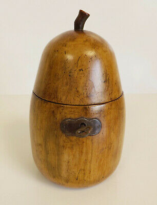 Antique Georgian Pear Tea Caddy.