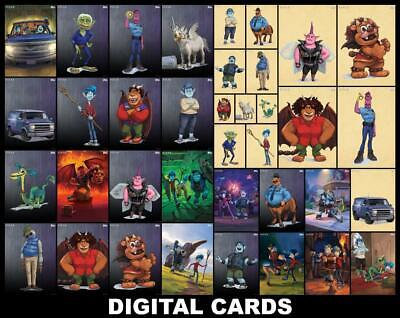 Topps Disney Collect ONWARD [37 CARD MAP VARIANT/SCENES/PREMIERE SET] FAST!