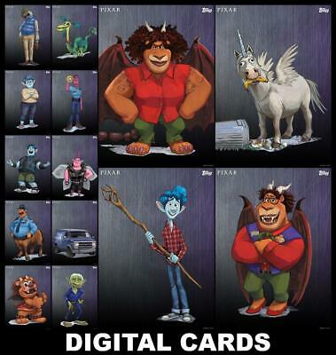Topps Disney Collect ONWARD [14 CARD PREMIERE PLATINUM CHARACTER SET] FAST!