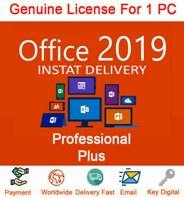 Microsoft Office 2019 Professional Plus Download and Key 32/64✅INSTANT DELIVER ✅