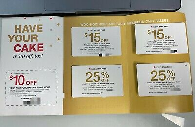 Macy's Star Pass Coupons $40 off & 25% off 5X Coupons Expires 5/31/2020