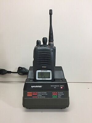 Harris P7300 Hand Held Radio W/ Charger, battery And Antenna