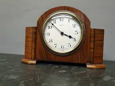 Vintage 8 Day Mantle Clock with Platform Escapement with Stepped Sides