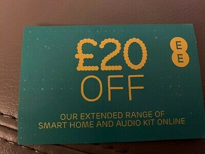 £20 Off EE Accessories Voucher For Full Price Items Smart Home And Audio Kit