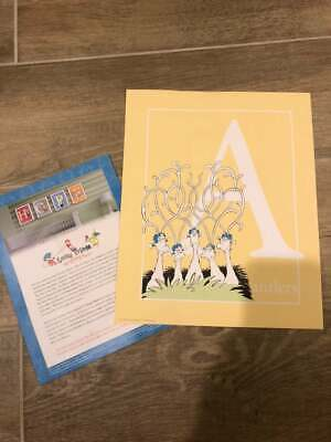 Pottery Barn Kids Dr. Seuss Letter Initial Print A is for Antlers RARE Ltd Ed