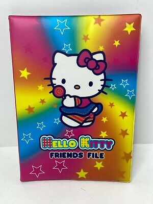 HELLO KITTY Friends File Official Sanrio Vintage Folder Notebook With Stickers