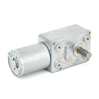 0.6RPM~120RPM Reversible High Torque Turbo Worm Geared Motor DC12V Reduction New