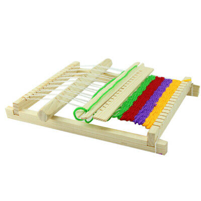 Chinese Traditional Wooden Table Weaving Loom hine Mini Hand Craft Toy