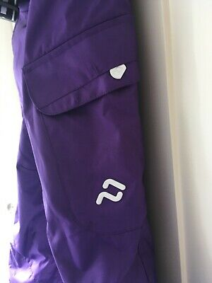 Girls Ski Trousers Salopettes Pants Canada Purple Age 14 immaculate