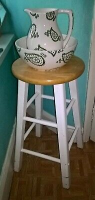 Vintage Wooden Lamp Table / Plant Stand / Stool