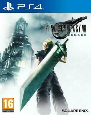 Final Fantasy 7 VII Remake PS4 NEW Pre Order 10/04/2020 NEW FACTORY SEALED