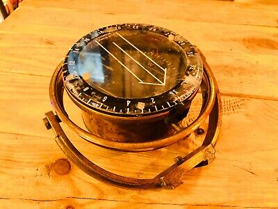 Antique Brass Sestral Ships Compass Vintage Marine Maritime Nautical Collector