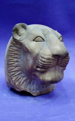RARE ANCIENT EGYPTIAN ANTIQUES GODDESS SEKHMET Head Limestone 1403-1365 BC