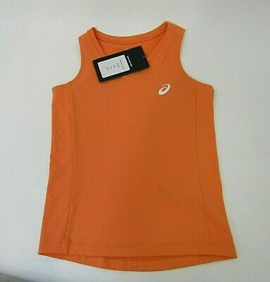 Asics Girls Training Running Vest Orange  Age 8-9 Years - BNWT