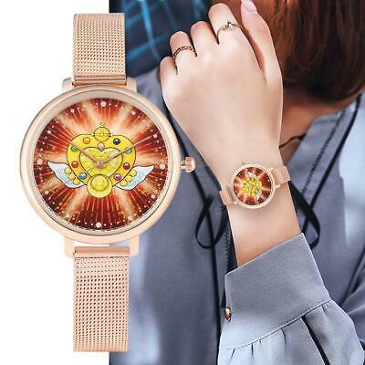 Fashion Geneva Women Watch Leather/Stainless Steel Sailor Moon Wrist Watch Gifts