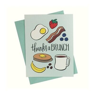 Paper Riot Co Thanks a Brunch Thank You Card Two Packs of 10 (20 Total Cards)