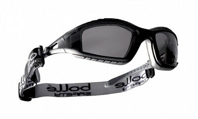 BOLLE Solis Shaded Smoke Lens Sports Cycling Safety Sunglasses with Free Pouch