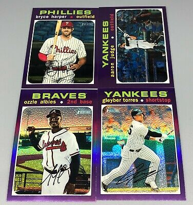 2020 Topps Heritage Purple Chrome U You Pick Short Print SP Parallel Refractor