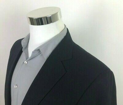 Brooks Brothers Fitzgerald Navy Blue Sport Coat Blazer Suit Jacket Mens 40L