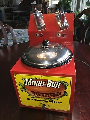 Minute Bun Cafe Hot BBQ Sandwiches Machine 1950's Diner Hamburger Joint Helmco
