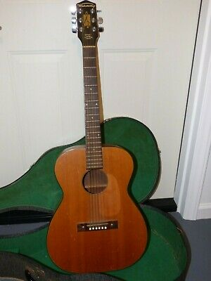 Vintage Harmony Acoustic Guitar H-162 USA Made w/ Vintage Hard Shell Case