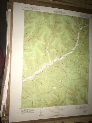 Conrad PA Potter Co USGS Topographical Geological Survey Quadrangle Old Map
