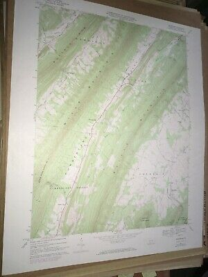 Rainsburg PA Bedford Co USGS Topographical Geological Survey Quadrangle Old Map