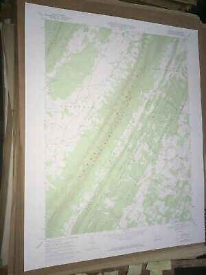 Clearville Pa Bedford Co USGS Topographical Geological Survey Quadrangle Old Map