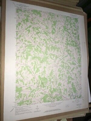 Rogersville PA Greene County USGS Topographical Geological Survey Quadrangle Map