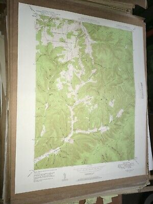 Ayers Hill Pa. Potter Co USGS Topographical Geological Survey Quadrangle Map