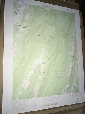 Beans Cove PA Bedford County USGS Topographical Geological Survey Quadrangle Map