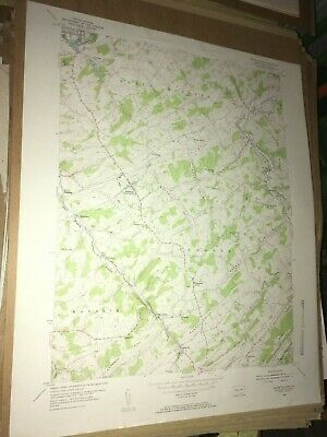Seven Valleys Pa.York County USGS Topographical Geological Survey Quadrangle Map