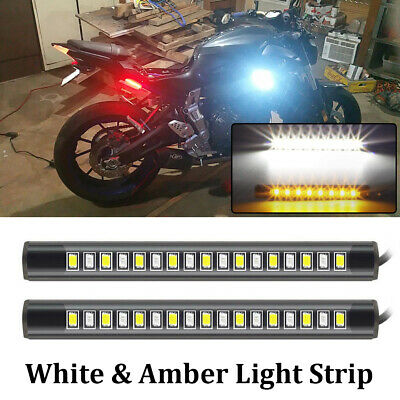 2x LED TURN SIGNALS BLINKERS TAIL LIGHT MOTORCYCLE INTEGRATED FLEXIBLE RR