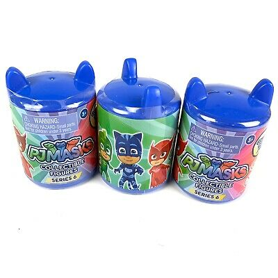 Lot Of 3 PJ Masks Collectible Figures Capsules Series 6 Blind Bag Grab Just Play