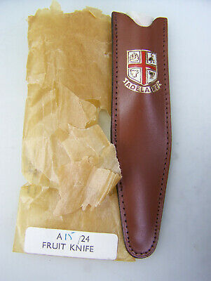 c1960s NOS stainless English fruit knife in 'Adelaide' souvenired pouch     2708
