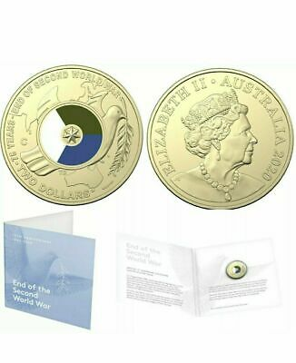 "Australia 2020 $2 ""C"" 75Th Anniversary Of End Wwii Coloured Uncirculated Coin"