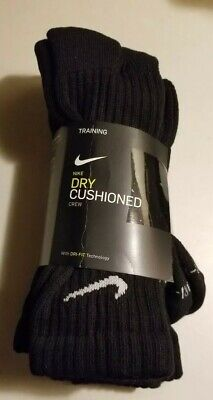 Nike Mens Dri-Fit Training Dry Cushioned Crew Socks SZ 8-12 Brand New