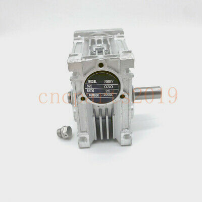 Worm Gear Reducer Gearbox NMRV030 Ratio 25:1 Input 11mm for NEMA23 Stepper Motor