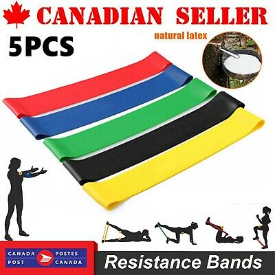 Resistance Bands - Exercise & Fitness Latex Loop Set for Home Gym & Yoga Workout