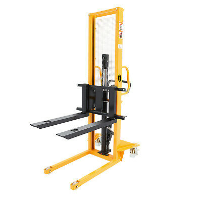 """Manual Stacker 1100lbs 63"""" Lift Height Adjustable Fork"""